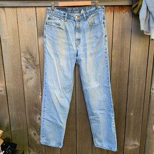 Levis Straight Leg Light Wash Denim Jeans
